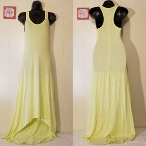 Victoria's Secret Yellow/Lime Green Maxi Dress - S